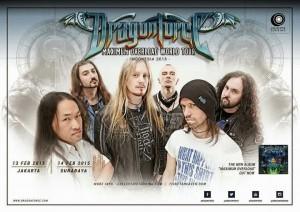 Dragonforce maximum overload world tour indonesia 2015