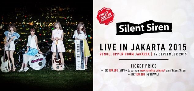 silent siren live in Jakarta 2015
