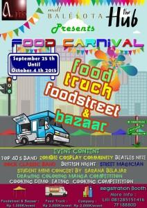 food carnival - food truck, food street and bazaar