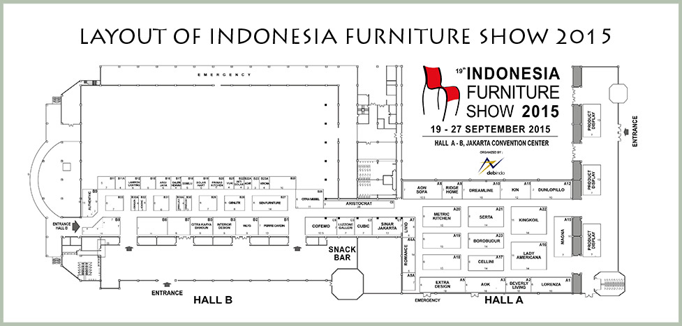 indonesia furniture show 2015 layout plan