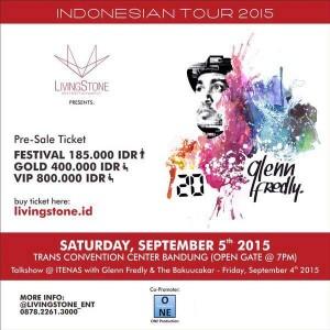 konser 20 th glenn fredly INDONESIA TOUR 2015