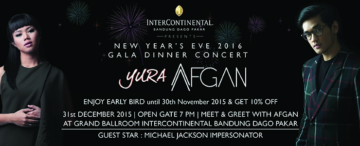 New Year Eve 2016 Gala Dinner feat Afgan dan Yura