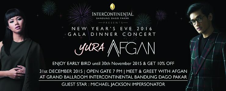 New Year Eve 2016 Gala Dinner feat Afgan dan Yura