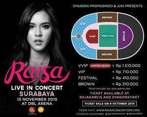 raisa live in concer surabaya
