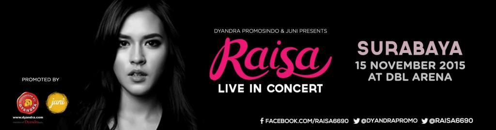 raisa live in concer surabaya poster
