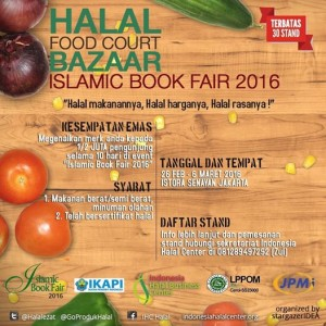 Halal Food Court - Islamic Book Festival 2016