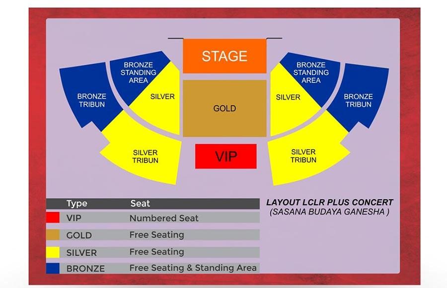 LCLR Plus Concert Bandung Seatmap