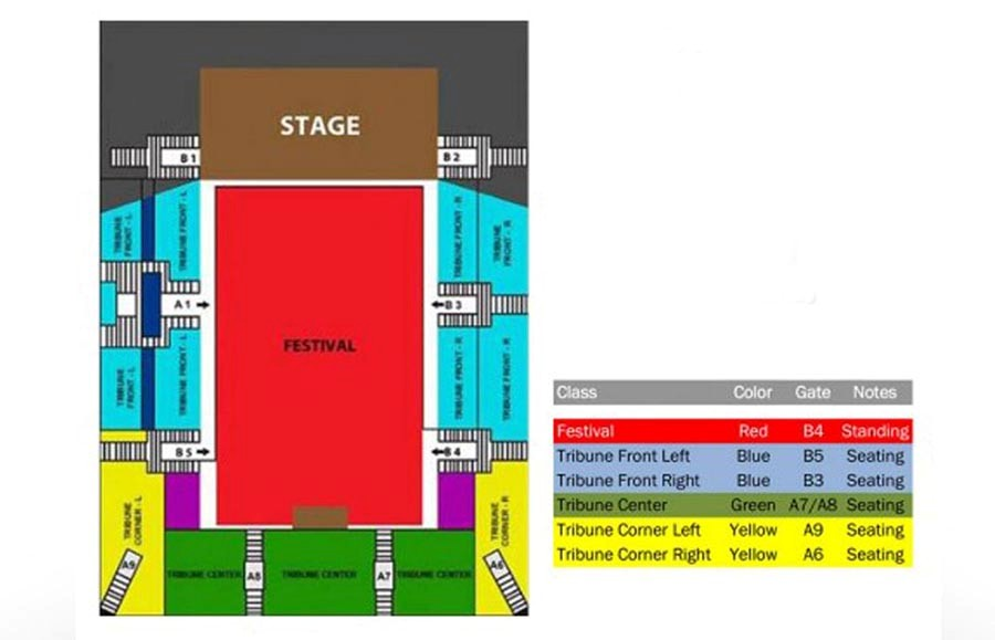 UB40 Greatest Hits Live in Concert seat plan