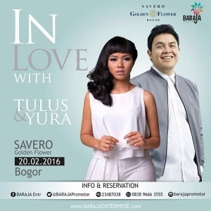 in love with tulus & yura poster
