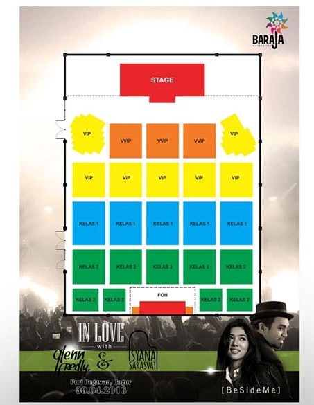 In Love with Glenn Fredly and Isyana Sarasvati seat map
