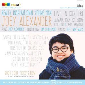 joey alexander live in concert poster