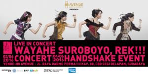 jkt48 live in concert - wayahe suroboyo,rek-poster