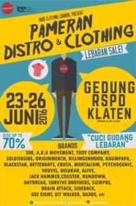 Pameran Distro and Clothing - Lebaran Sale - Klaten