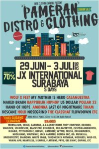 Pameran Distro and Clothing - Lebaran Sale - Surabaya