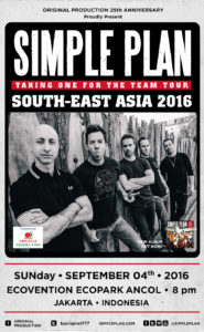 Simple plan - taking for the team tour - 2016